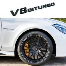 V8 Biturbo Black letter Emblem Badge Sticker For Benz Car Body Rear Trunk Lid