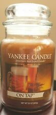 LARGE YANKEE CANDLE  ON TAP UNBURNED