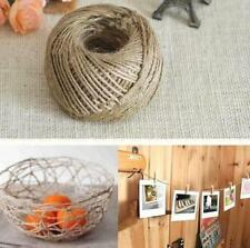 10M Twisted Burlap String Natural Ribbon Fiber Jute Twine Rope Toy 3 Ply 10M