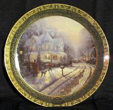 "Thomas Kinkade's Cherished Christmas Memories ""A Holiday Gathering"" Plate 1st Ed"
