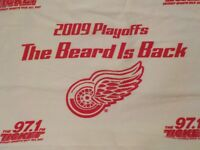 Detroit Red Wings Rally Towel Stanley Cup Playoffs 2009 The Beard Is Back
