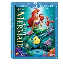 The Little Mermaid (Blu-ray/DVD, 2 Disc Set, Diamond Edition) New SAME DAY SHIP