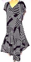 TS dress TAKING SHAPE plus sz XS / 14 'Paradise City' chic stretch NWT rrp$120!