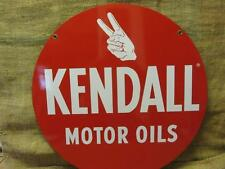 Vintage Kendall Motor Oil Sign > Antique Old Gas Station Double Sided Auto 9762