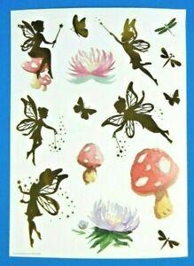 Fairies & Watercolor Mushroom - Flowers Sticker Sheet