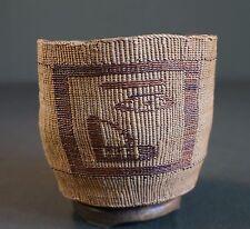Very Fine Late 1800 Native American Alaska Tlingit Figural Basket Ex Museum