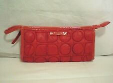 Kate Spade Red Quilted Cosmetic Bag Pouch