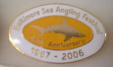 BALTIMORE SEA ANGLING Enamel Pin Badge 40th ANNIVERSARY 1967 - 2006 FISHING