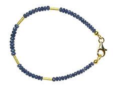 SAPHIR Armband Silber vergoldet 20,5cm / SAPPHIRE Bracelet D780