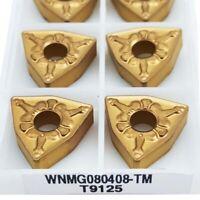 10pcs WNMG432-TM T9125 WNMG080408 TM 9125 CNC carbide insert for stainless steel