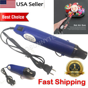300W Mini Hot Air Gun Hand Hold Heat Gun Embossing Drying Tool 110V Blue color