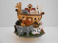 Noah'S Ark Windup Animated Music Box on peddicle