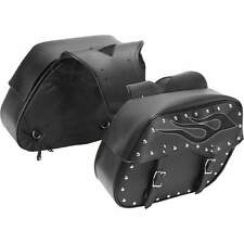 2pc Flame Design PVC Motorcycle Saddle Bag Set FOR HONDA SHADOW MAGNA VT1300