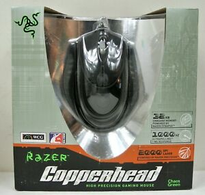Razer Copperhead Chaos Green 2000dpi Gaming Mouse New in Factory Sealed Box