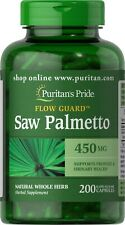 Puritan's Pride Saw Palmetto 450 mg-200 Rapid Release Capsules Natural Herb