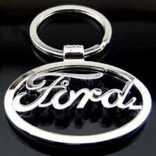 Ford Car Logo Keychain 3D Chrome Metal Car key Chain keyring With Logo