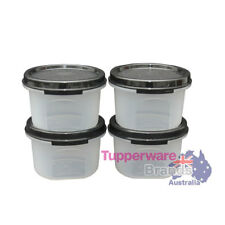 Tupperware 4 Pcs Modular Mates Round I Set Black Colour Lid MM Round I 200ml-New
