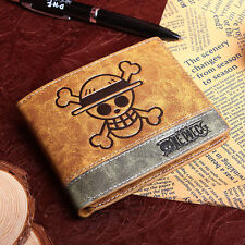 Anime One Piece Straw Hat Pirates Cosplay Wallet Bifold Wallet Purse New No Box