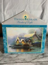 "THOMAS KINKADE ""LOCHAVEN COTTAGE"" 1000 PIECE PUZZLE - New Sealed In Plastic!"