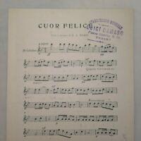 Spartito CUOR FELICE...versi e musica E.A.Mario edizione F.Bideri 1914