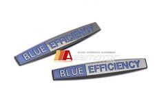 2x 3D Mercedes C ML CL E GL R S Black Chrome Side Emblems Badges Blue Efficiency