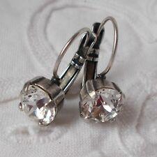 8.5mm Cup Chain BASICS Fun Drop Crystal Leverback EARRINGS~Swarovski Crystals