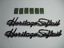 2 Harley Heritage Softail NEW Front Fender Emblems Medallions Nameplates