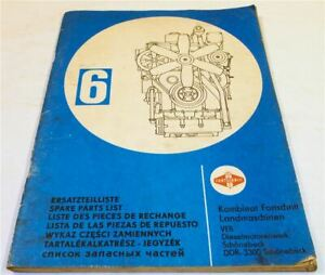 Fortschritt 6VD14,5/12-2SRW Dieselmotor Ersatzteilliste Ersatzteilkatalog 1982