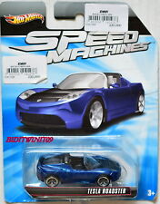 HOT WHEELS SPEED MACHINES TESLA ROADSTER BLUE BENT CARD