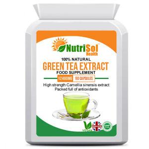 Green Tea Extract 12480mg 90 Capsules Vegan Antioxidant, Weight Loss, Fat Burner