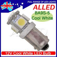 12V LED BA9S Bulb 5SMD Cool White Car Indicator Light Reverse Lamp 1 Connector