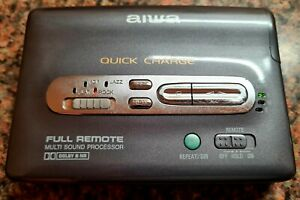 AIWA PX547 Walkman Full Remote 'quick charge' stereo cassette player vintage