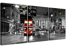 Red London Bus Canvas Wall Art 3 Panel for your Living Room