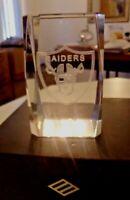 Stunning Crystal, Glass Solid Las Vegas Raiders Paperweight