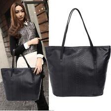 Ladies Designer Leather Style Celebrity Tote Bag Smile Shoulder Satchel Handbag