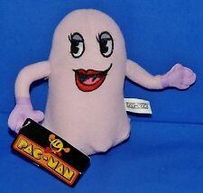 "PINKY PAC-MAN Ghost Monster (Toy Factory) (5.5"") Plush Bean Bag Boys Girls 3+ EX"