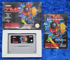 Zool Ninja of Nth Dimension, OVP Anleitung, SNES, Super Nintendo Spiel