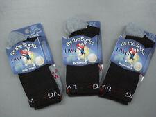 "NWT Men's TCK"" It's The Socks"" Walking Socks Size Large 3 Pair Black/Grey #66K"