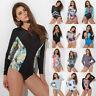 Women Long Sleeve Rash Guard Swim Shirt SPF40+ Surfing Wetsuit Swimsuit Swimwear