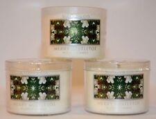 3 Bath & Body Works Slatkin & CO. Merry Mistletoe Mini Candle 1.6oz