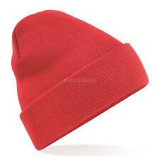 Mens Hat Ribbed Solid Plain Knit Ski Cap Warm Beanie Skull Winter Cuff Men Blank