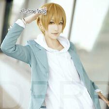 Headless Kida Masaomi Short Straight Blonde Synthetic Hair Anime Cosplay Wig
