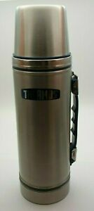 VINTAGE RETRO THERMOS STAINLESS STEEL FLASK 1L MODEL 2420 WITH BOX