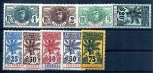 SENEGAL 1906 Yvert 30,31A,33,36,37,38,40,42,43 **  POSTFRISCH(F1236