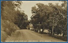 "RPPC  BEDFORD PA AREA ""LINCOLN HIGHWAY ALONG JUNIATA RIVER NEAR HOFFMAN'S"