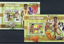 Burundian Sheet Scouting Postal Stamps