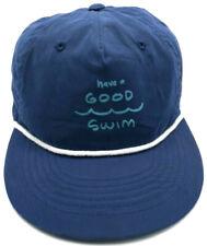 HAVE A GOOD SWIM lightweight vintage blue adjustable cap / hat