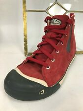 Keenl Size US 6 M (B) EU 36 Women's Insulated WP Red Suede Ankle Boots Shoe