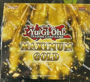 KONAMI YU-GI-OH TCG MAXIMUM GOLD 1ST EDITION FACTORY SEALED DISPLAY BOX 5 PACKS