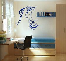ik688 Wall Decal Sticker head horse nag pet stallion thoroughbred horse bedroom